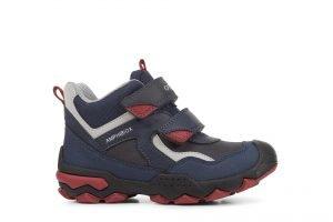 Geox Buller Boots Junior Boy Navy/Dk Red