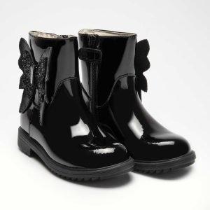 Lelli Kelly Black Patent Boots Eneva LK5642