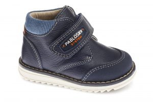 Pablosky 089723 Baby Boy Navy Ankle Boots Navy Leather