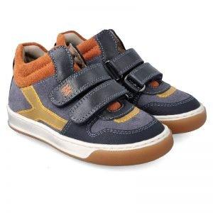 Garvalin 201452 Boys Ankle Boots Navy/Tan
