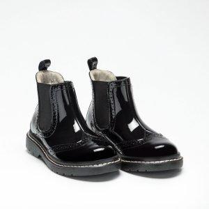 Lelli Kelly LK8294 Noelle Girls Ankle Boots Black Patent