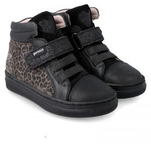 Garvalin 201638 Girls Ankle Boots Black/Leopard print