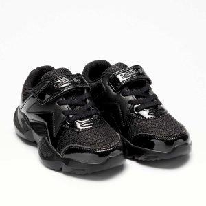 Lelli Kelly LK8385 Sabelle Girls Sneakers Black Shimmer/Patent