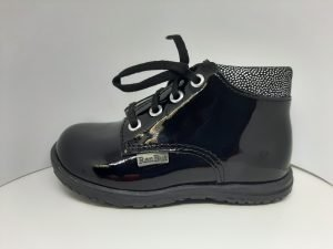 Ren-but Baby Girl First Boots Black Patent