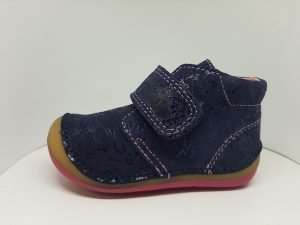 Ren-but Baby Girl First Walkers Navy Shimmer/Pink