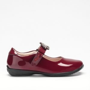 Lelli Kelly LK8312 Blossom Girls Shoes Unicorn Strap Bordeaux Patent