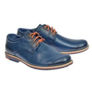 Tim Boys Formal Leather Shoes Navy/Blue