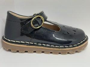 Petasil Andrea 2/ 5972 Girls T-bar shoes Grey Met. Patent