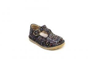 Petasil Crosspatch 5346 Girls T-bar shoes Multi Black Matrix