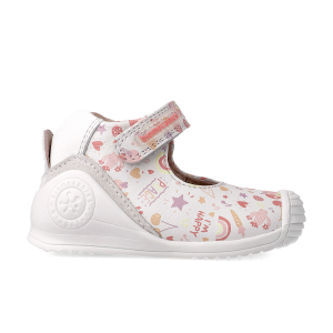Biomecanics Candy 212102 Baby Girl First Shoes  Leather White/Multi