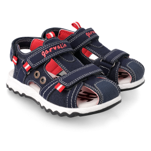 Garvalin 212651 Boys Sandals Coverd Toes Navy/Red