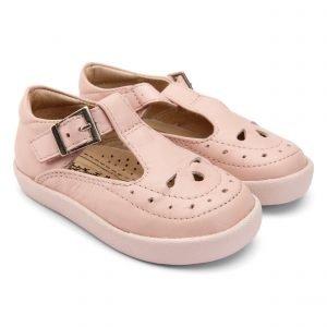 OldSoles Royal Shoe T-Bar Girls Shoes Leather Powder Pink
