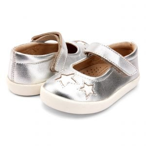 OldSoles Miss Star Girls Mary Jane Leather Silver