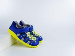 Bobux Summit Waterfriendly Sandals Blueberry + Neon
