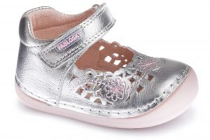 Pablosky 090650 First Shoes Baby Girls Shoes Silver