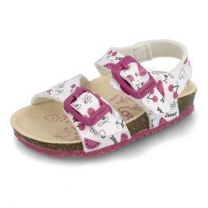 Garvalin 202666 Girls Sandals White/Multicolour