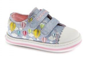 Pablosky 961511 Girls Canvas Shoes Sky Blue Glitter