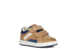 Geox Trottola Boys Shoes Tan