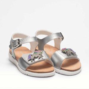 Lelli Kelly LK 1500 Unicorn Girls Sandals Silver Metallic