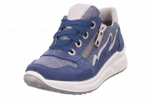SuperFit Merida Gortex Girls Runners Blue Shimmer