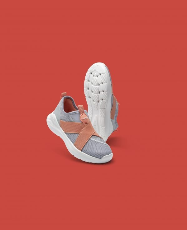 SuperFit Flash Girls Sport Ultra Lightweight Sneakers Grey/Orange