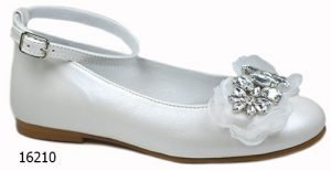 TNY by Tinny Shoes 16210 Girls Communion Shoes White