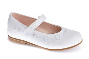 Pablosky 342808 Girls Leather Communion Shoes White