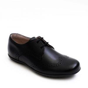 Petasil Emma Girls Leather Shoes Black