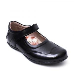 Petasil 6085 Expo 4 Junior Girl Leather Shoes Black