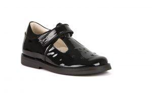 Froddo Evia G3140128-1 Girls T-Bar Shoes Black Patent