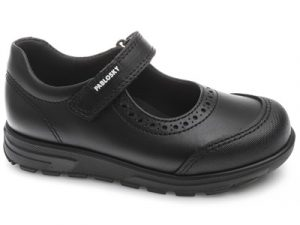 Pablosky 334110 Girls School Shoes Black Leather