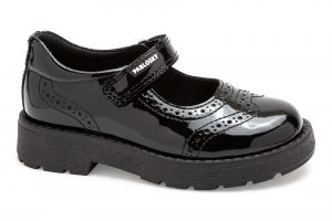 Pablosky 345519 Girls School Shoes Leather Black Patent