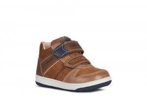 Geox New Flick Boys Ankle Boots Brown/Navy