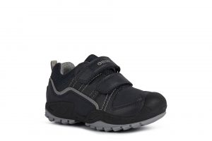 Geox Savage Boys Shoes Navy/Grey