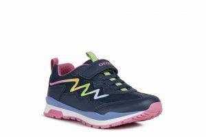 Geox Pavel Girls Runners Navy/Multicolour