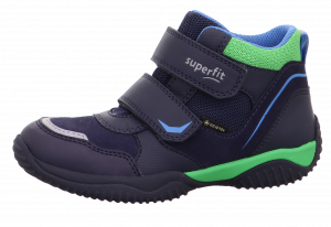 SuperFit Storm Gortex 1-009385-8010 Boys Ankle Boots Navy/Green