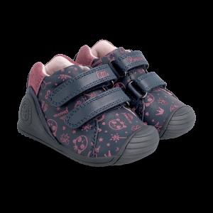 Biomecanics 211113 Girls First Shoes Navy/Pink