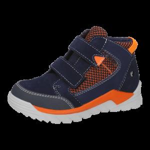 Ricosta Marvi Boys Waterproof Ankle Boots Navy/Orange