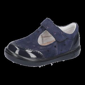 Ricosta Winny Girls Leather T-Bar Shoes Navy
