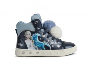 Geox Skylin Frozen II Girls Light Up Ankle Boots Navy