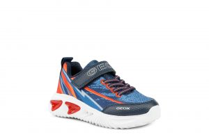 Geox Assister Boys Light Up Runners Navy/Red