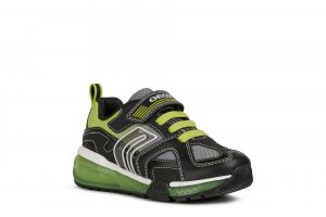 Geox Bayonyc Boys Light Up Runners Black/Lime