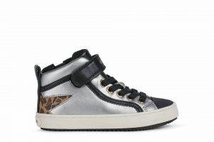 Geox Kalispera Girls Ankle Boots Silver/Black
