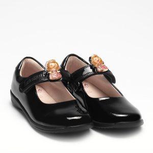 Lelli Kelly LK8215 Prinny2 F Girls School Shoes Black Patent
