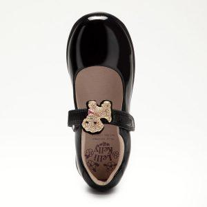 Lelli Kelly LK8217 Poppy2 F Girls School Shoes Black Patent