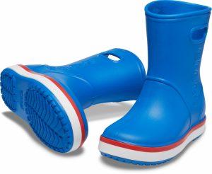 Crocs Crocband Rain Boots Bright Cobal/Flame