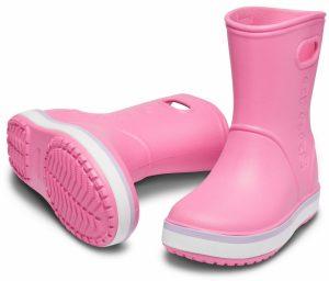 Crocs Crocband Rain Boots Pink Lemonade/Lavender