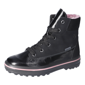 Ricosta Evi Waterproof Girls Ankle Boots Black Patent