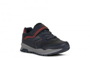 Geox Pavel Boys Runners Navy/Red