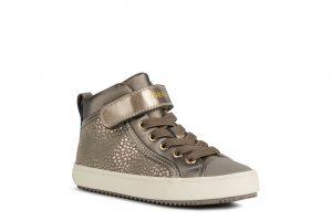 Geox Kalispera Girls Ankle Boots Beige Shimmer